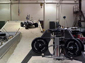 Photo: Test rover in background at the SLOPE facility