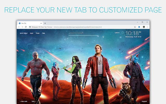 Guardians of the Galaxy Custom New Tab