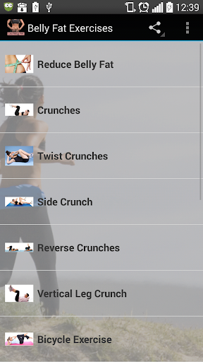Belly Fat Exercises Fitness app screenshot 1 for Android