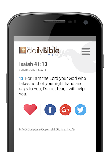 Daily Bible Verse Screenshot