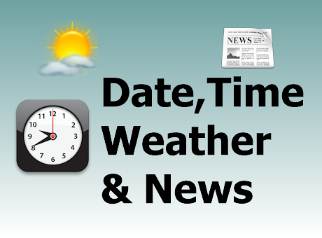 Date,Time,Weather and News