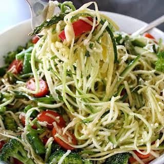 Primavera Zucchini Noodles (Zoodle Salad).