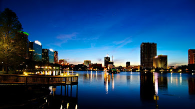 Photo: Lake Eola Sunset