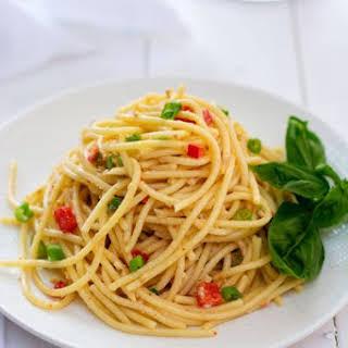 Spaghetti Salad with Italian Dressing.