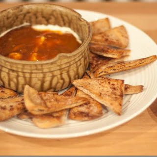 Caramel Apple Dip with Cinnamon Sugar Pita Chips