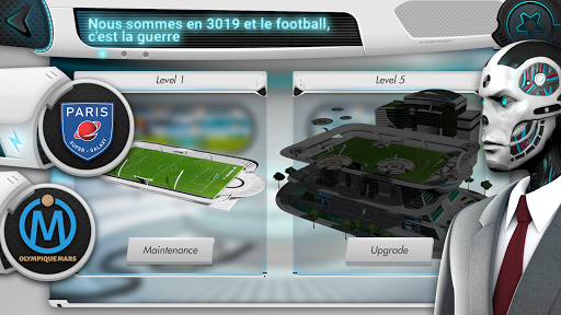 Futuball - Jeu de manager de foot du futur  captures d'écran 1