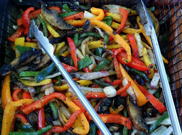 Grill or roast sliced veggies.  I drizzle olive oil on them and sprinkle...