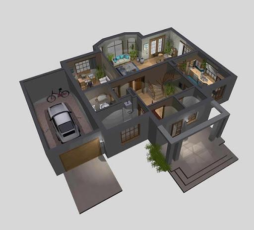 APS 120 - Rzut parteru 3D
