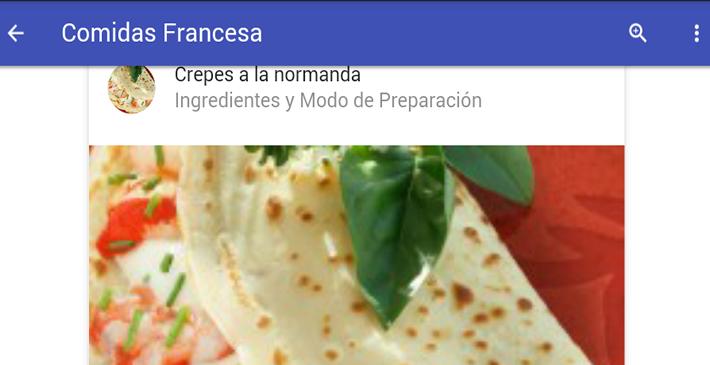 Comida francesa android apps on google play for Comida francesa popular
