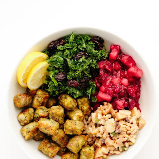 Harvest Power Bowl with Kale Puffs.