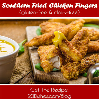 Southern Fried Chicken Fingers (gluten-free, dairy-free).