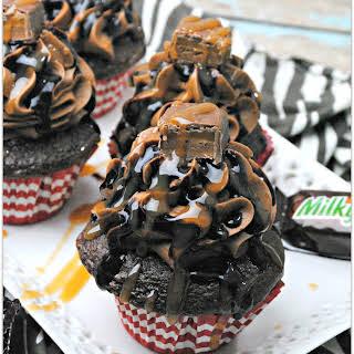 Delicious and Decadent Milky Way Cupcakes.