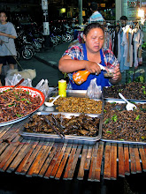 Photo: fried insects at the night market