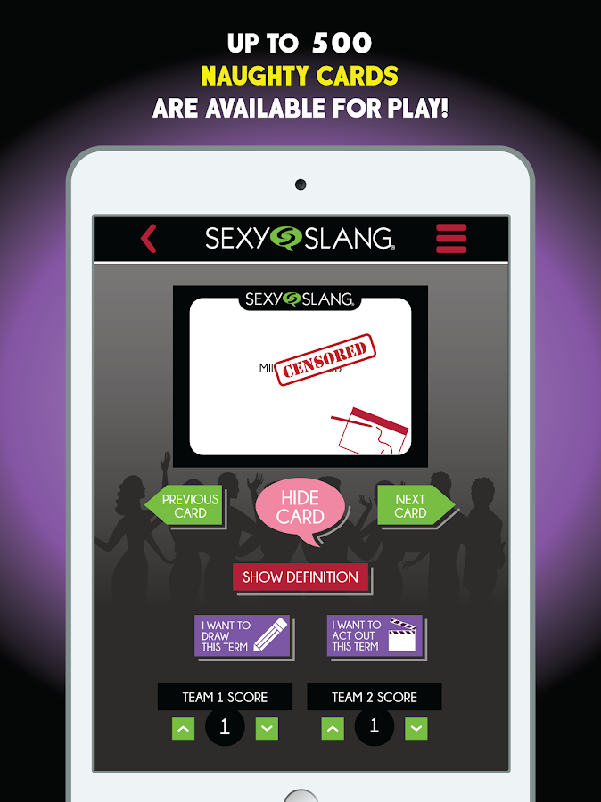 Sexy Slang - Fun Party Game- screenshot