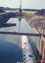 Photo: Aanleg waterleiding langs Vuren