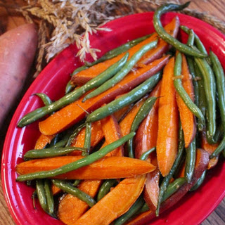 Glazed Sweet Potatoes and Green Beans