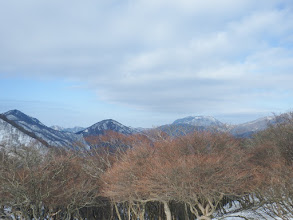 右から藤原岳・御池岳・銚子岳・天狗堂・静ヶ岳など