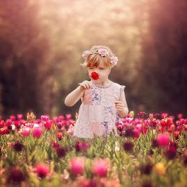 Among the Tulips by Love Time - Babies & Children Child Portraits