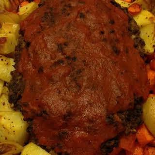 Vegetarian Meatloaf with Vegetables.