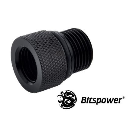 """Bitspower adapter til Eheim pumpe, 3/8""""BSP til 1/4""""BSP, Matt Black"""