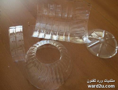 كريكوت للعروسة من الزجاجات البلاستيك