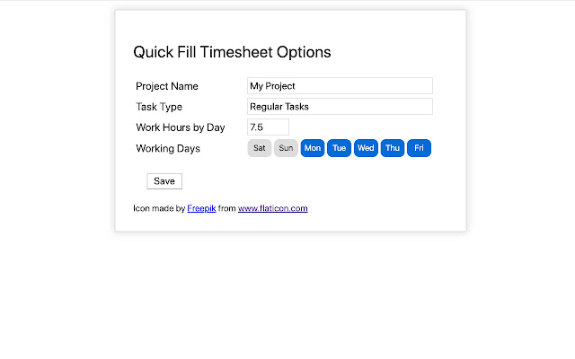 QuickFillTimesheet