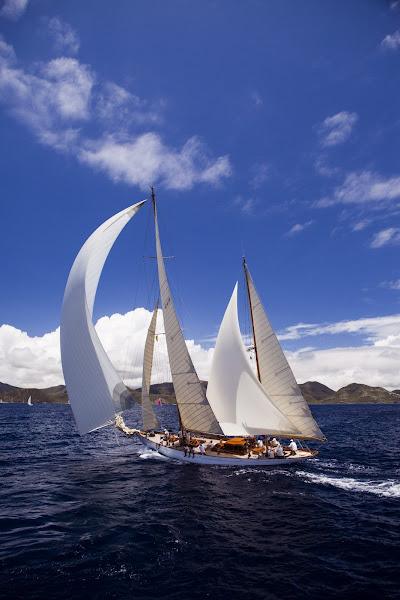 Photo: Eilean sailing in the Antigua Classic Yacht Regatta, Old Road Race.