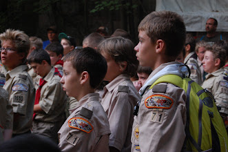 Photo: Chase & David being introduced to Eagle Quest - rank advancement focused activity area