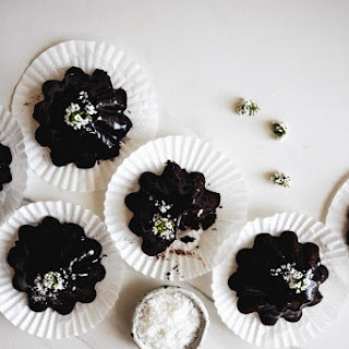 Dark Chocolate Olive Oil Friands with Fleur de Sel