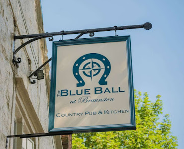 the blue ball brauston restaurant sign