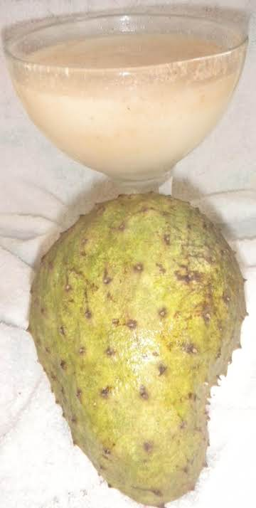 SOUR SOP JUICE WITH NATURAL VANILLA EXTRACT