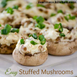Easy Stuffed Mushrooms.
