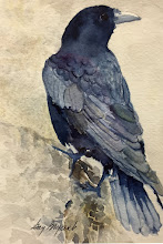 Photo: Crow's Nest. watercolor.  5x7