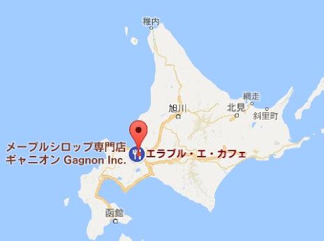 地図:ギャニオン・エラブル・エ・カフェ