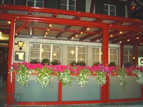 Photo: Unsere Terrasse am Abend