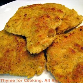 Turkey Cutlets with Mustard Crust.