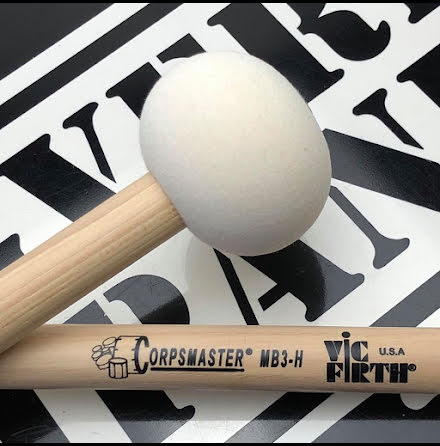 Vic Firth Corpsmaster - Marching Bass Mallets - MB3H