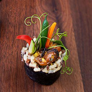 Teriyaki-Mussel Maki Rolls