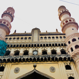 charminar by Dharaneesh Ch - Buildings & Architecture Architectural Detail ( mobilography, charminar, photography, street photography, architecture )