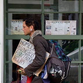 Anything Helps by Alice Gipson - People Street & Candids