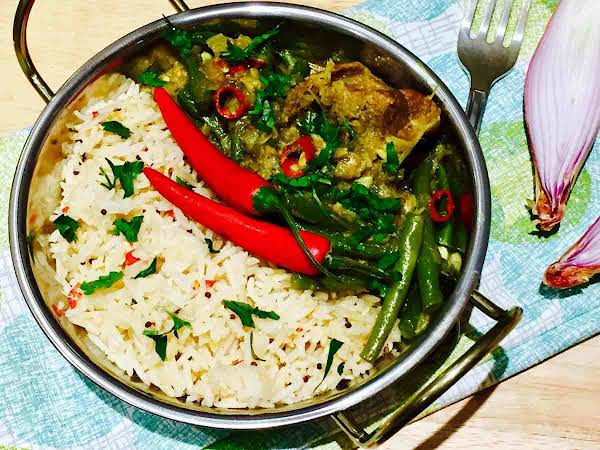 Duck Thai Curry With Coconut And Infused Rice Recipe