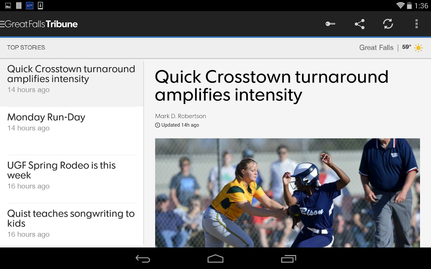 Great Falls Tribune- screenshot