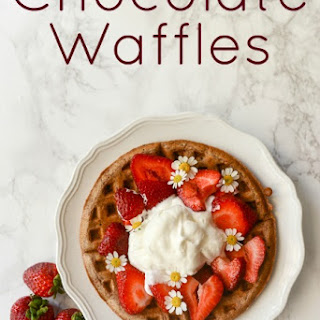 From Scratch Chocolate Waffles