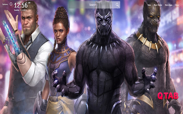 Black Panther Movie Wallpapers New Tab
