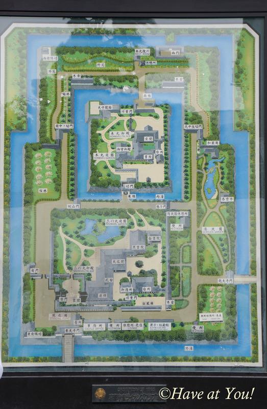 Nijo Castle map