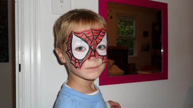 Photo: Incredible Spiderman Face Painting Mask by Paola Gallardo from http://www.BestPartyPlanner.net