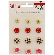 Crate Paper Buttons 12/Pkg - Fa La La UTGÅENDE