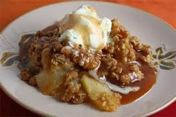 Maple Apple Crumble With Candied Bacon Recipe