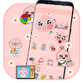 Smart Pink Emoji Theme APK