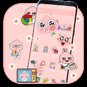 Download Smart Pink Emoji Theme Free